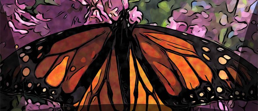 Monarch with Tarp Overlay