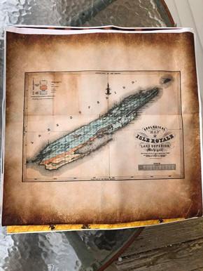 Isle Royale Vintage Map