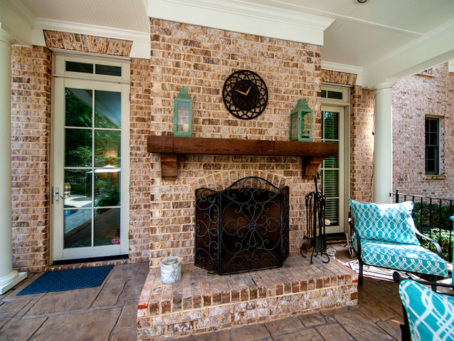 Covered Porch Fireplace