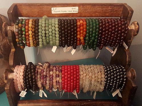 Round Bead Stone Bracelet