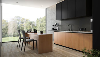 3d-rendering-modern-black-kitchen-with-w
