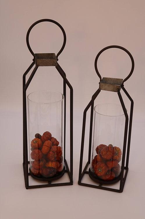 Rustic Lantern Set with LED Lights