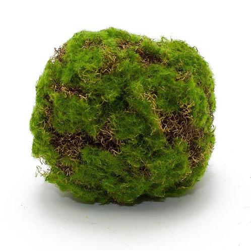 "Faux Moss Covered Orb (6"")"