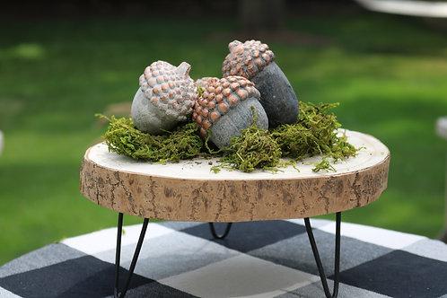 Wood Round Pedestal