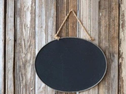 Blank Blackboard with Twine Hanger