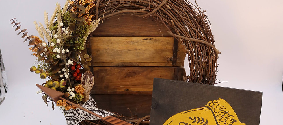 One Time Wreath and Sign Parcel