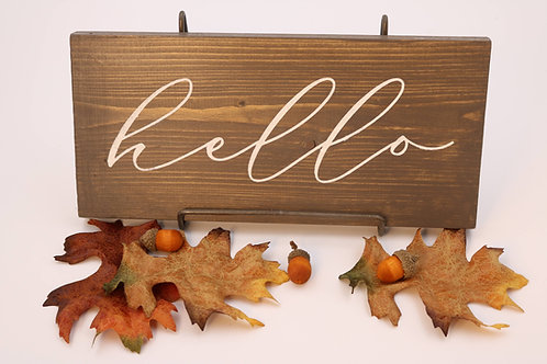 Hand Painted Whimsical hello Sign