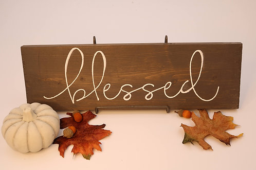 Hand Painted Blessed Wood Sign