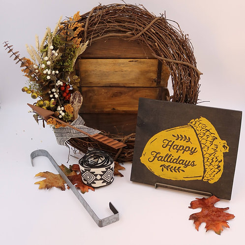 One Time Wreath & Sign Parcel