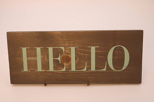 Hand Painted HELLO Sign
