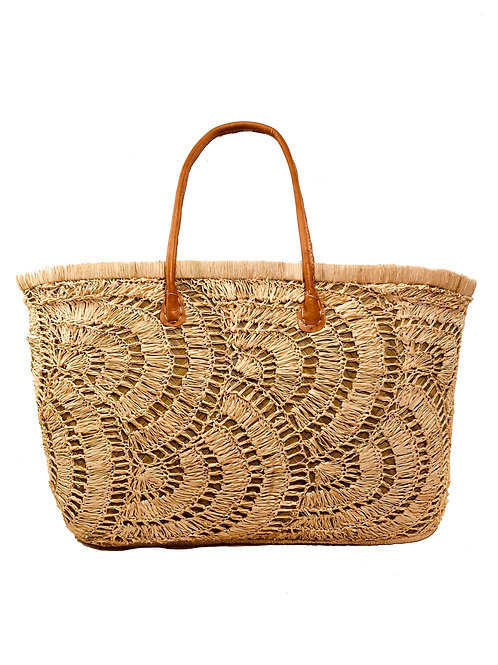 Hand Crotched Shell Market Tote