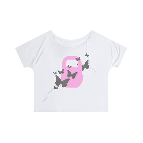 Kettlebell pink butterfly Women's Slouchy top