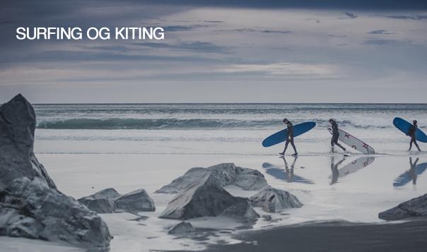 Surfing og kiting