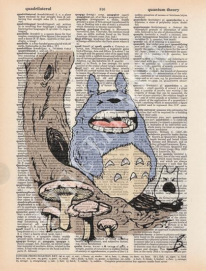 Yawning Totoro