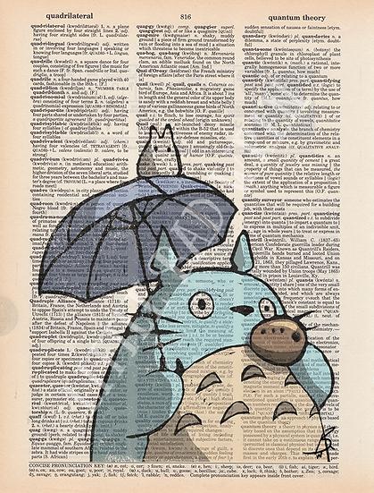 Totoro w/ Umbrella