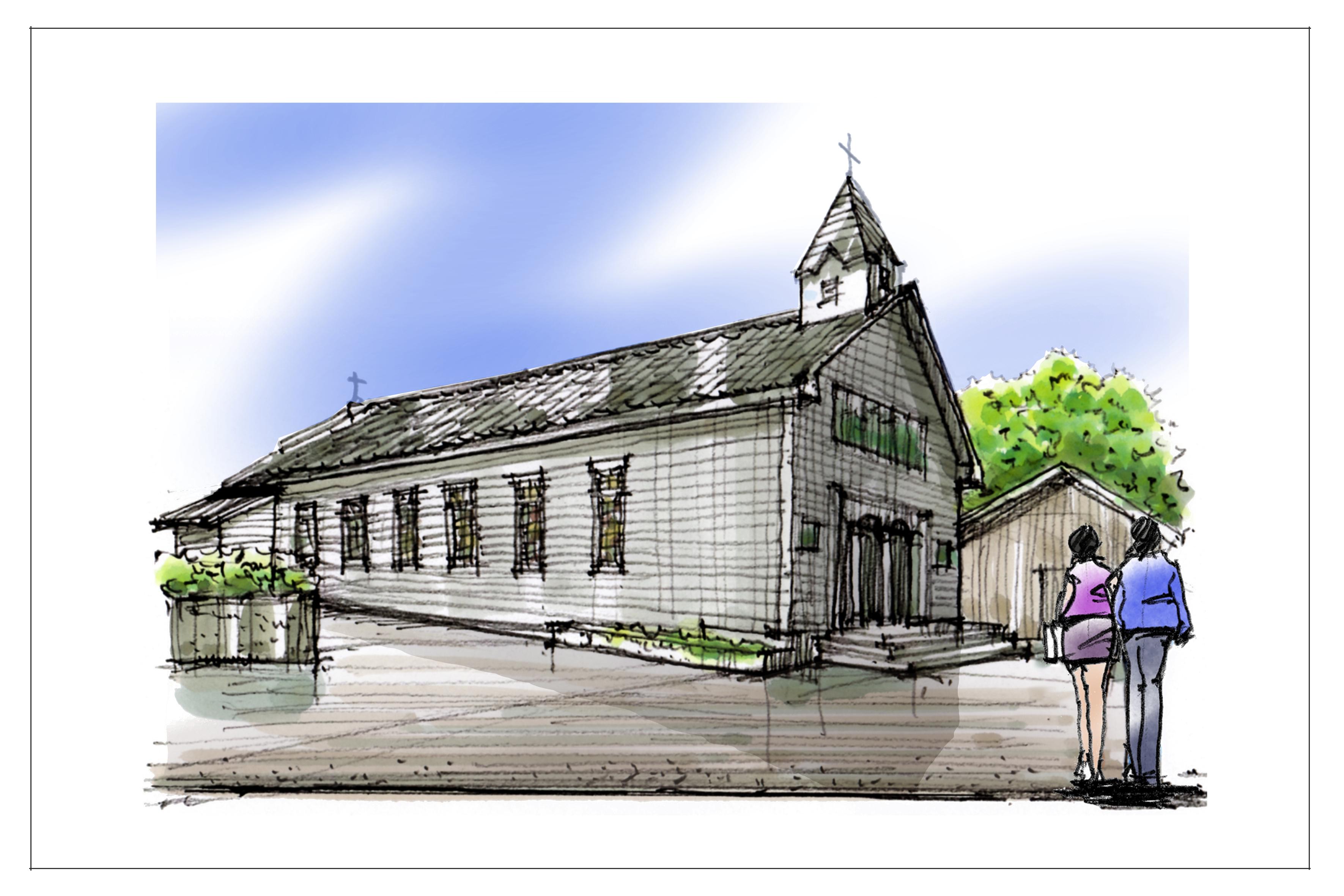 H貝津教会(よこ)