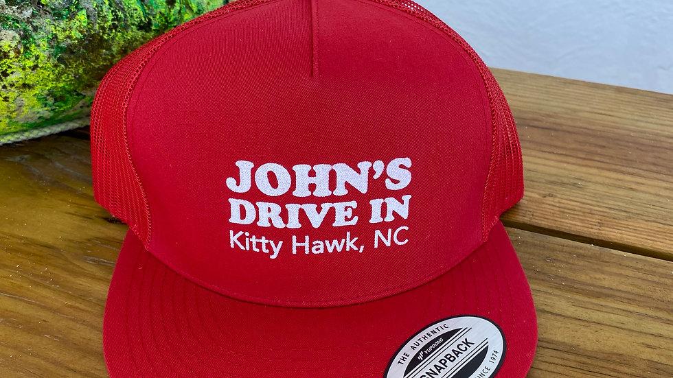 John's Trucker Hat Red