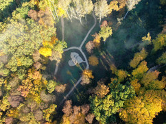 Luftbild vom Andachtsplatz