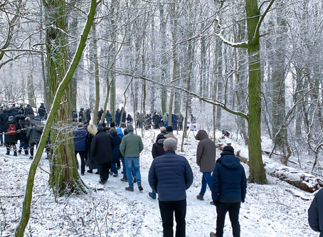 Klosterwald Beisetzungen im Winter