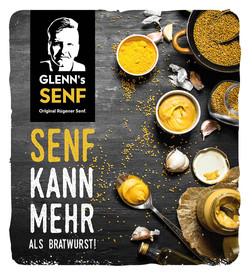 Design Werbedisplay für Glenn's Senf