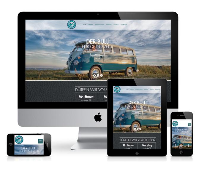 Webdesign für Event Bulli Rügen