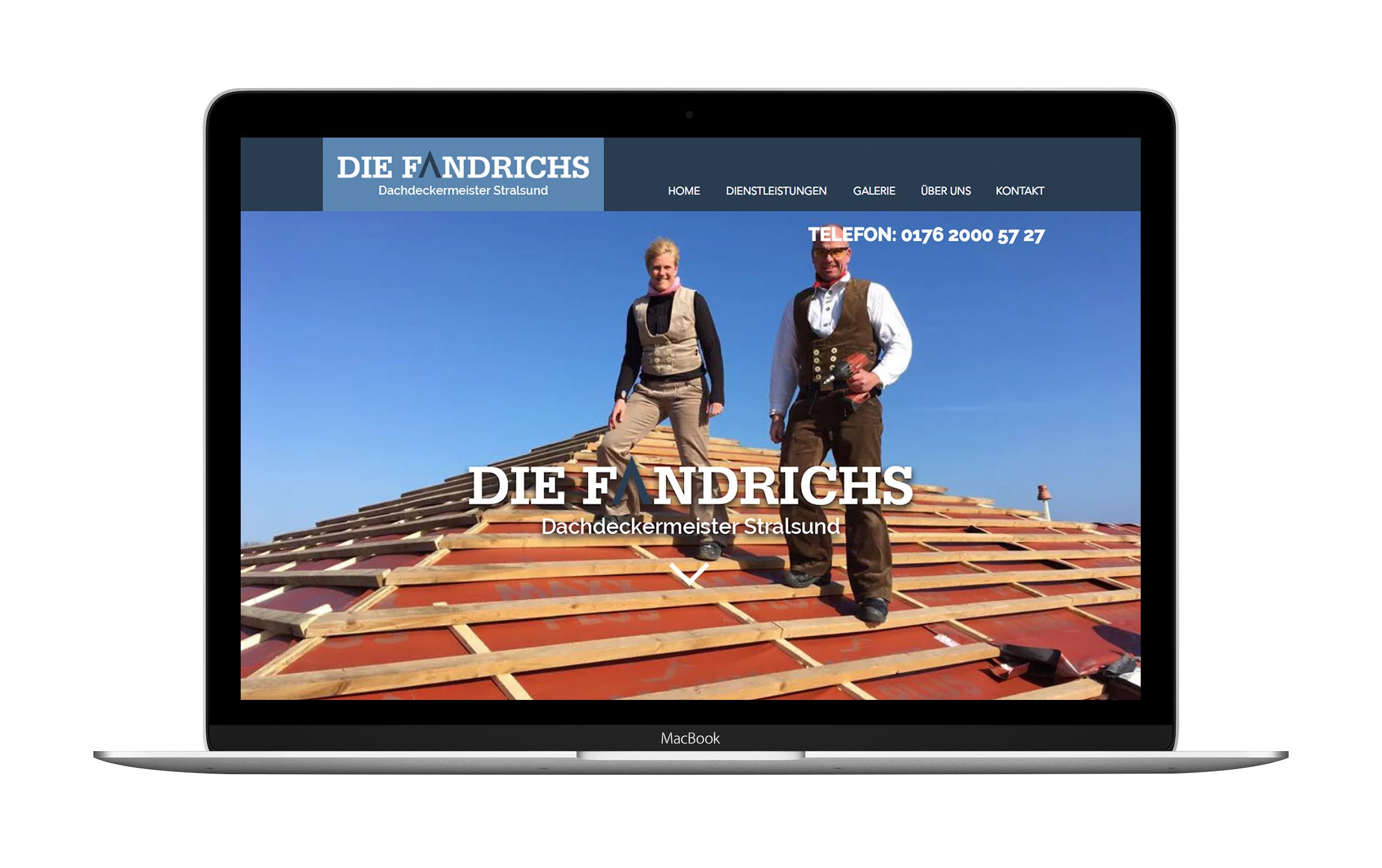 Webdesign Dachdeckermeister Fandrich