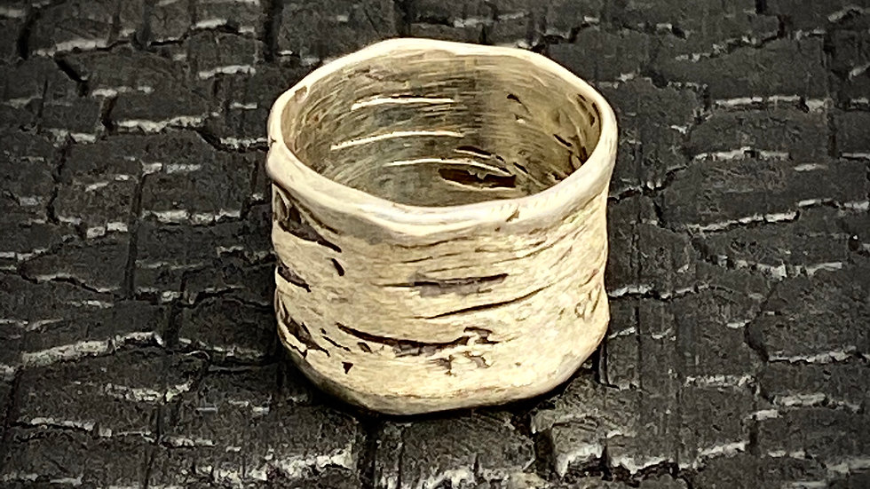 Wide Birch Bark Ring