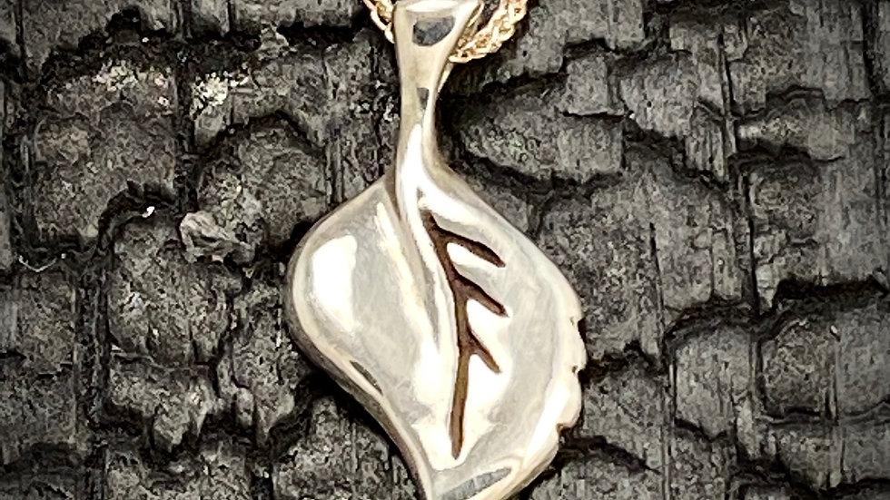 Sterling Leaf Pendant