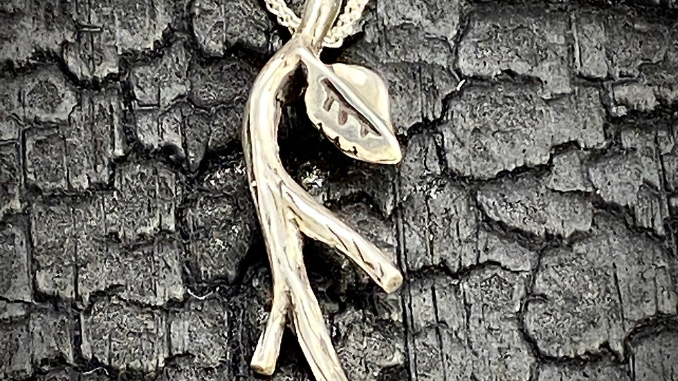 Twig and Leaf Pendant