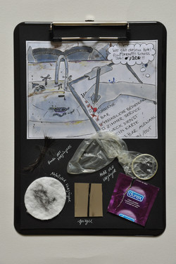 Storyboard mit Materialproben