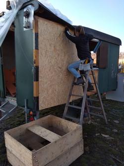Umbau des Wohnwagens