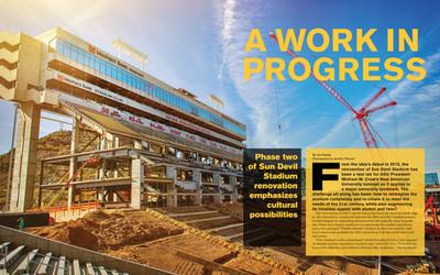 ASU Alumni Magazine Spread