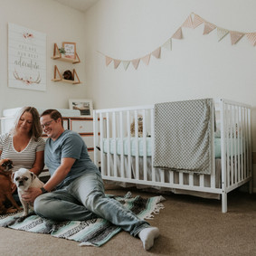 In Home Maternity Session   Megen & Zachary