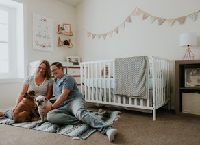 In Home Maternity Session | Megen & Zachary