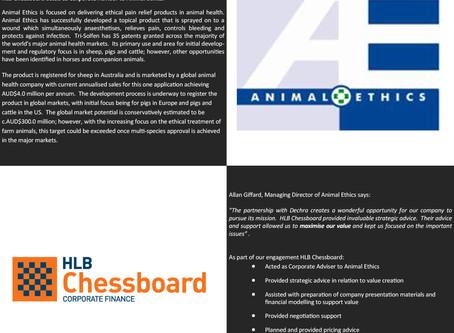 Animal Ethics secures cornerstone investor