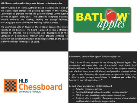 Batlow Apples secures cornerstone investor