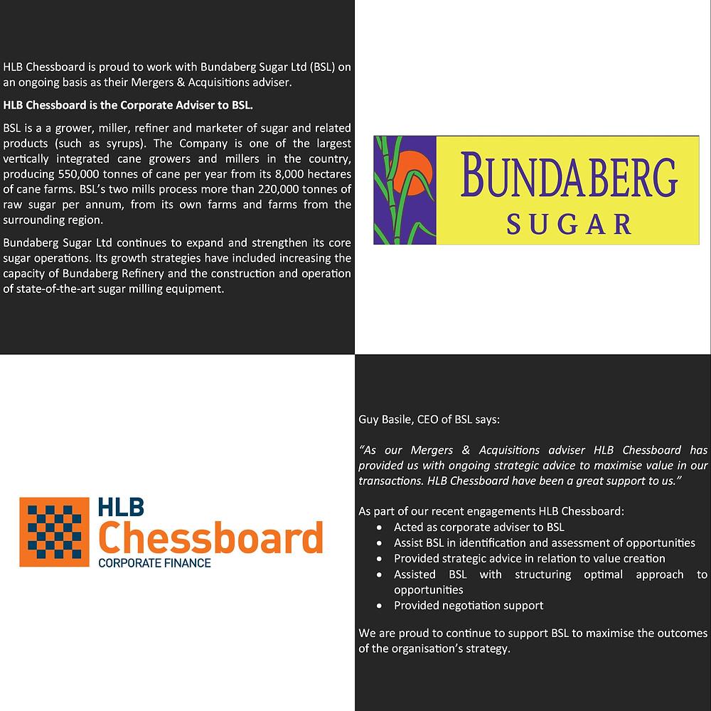 Bundaberg Sugar Advisory Client