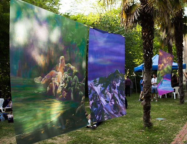 lana duval musée georges labit toulousepeinture numérique impression textile art contemporain