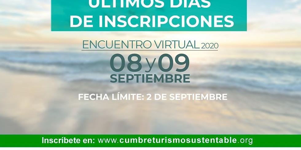 Encuentro Virtual 2020 de la #CumbreTurismoSustentable🍃, el evento más importante en Iberoamérica!
