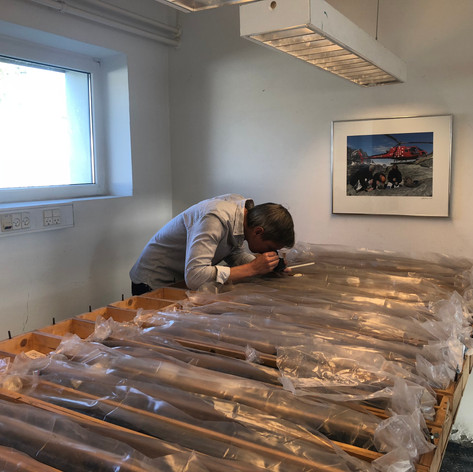 Undersökning av kärnan från ett historiskt borrhål vid Köpenhamns universitet