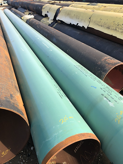 """20"""" OD x .375 WT x 40' avg. length Steel Pipe Sections"""