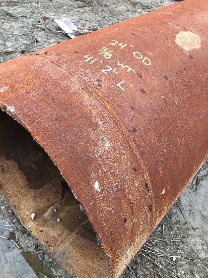 """24"""" OD x .375 WT x 41'2"""" L Steel Pipe"""
