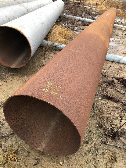 """30"""" OD x .250 WT x 40'10"""" L Steel Pipe"""