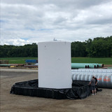 Secondary Containment System with 15,000 gallon tank
