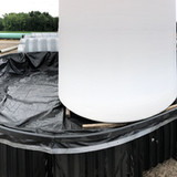 Secondary Containment System with 15,000 gallon tank liner and containment rails