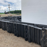 Secondary Containment System with 15,000 gallon tank side view