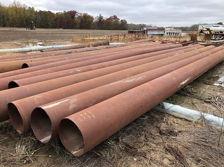 "20"" OD x .375 WT x 40' avg. length Steel Pipe Sections"