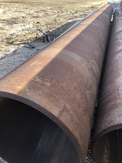 """36"""" x .465 WT steel pipe"""