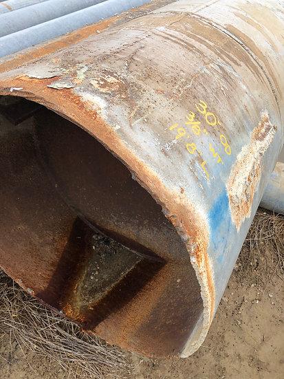 """30"""" OD x .375 WT x 19'8"""" L Steel Pipe"""