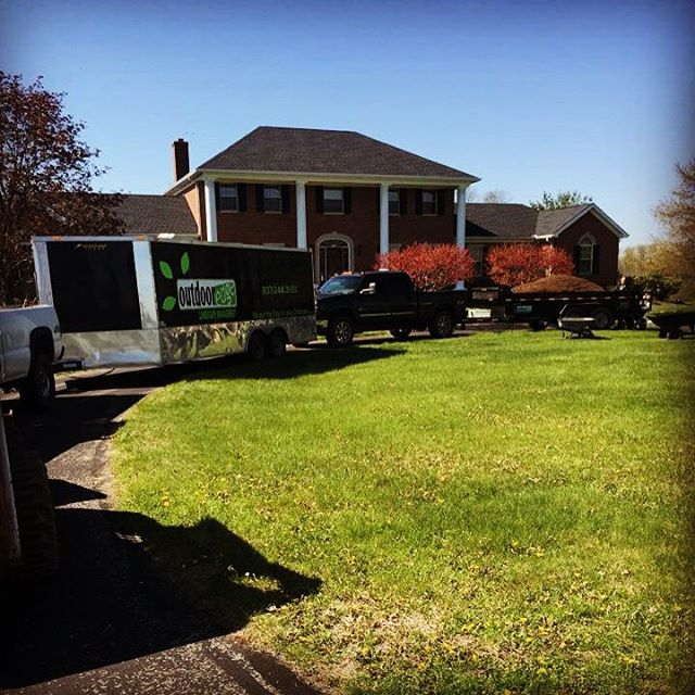 #outdooredgelandscapemanagment #mansion #builtfromthegroundup